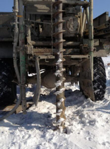 Существует мнение, что бур скважин не сможет справиться зимой с грунтом на должную глубину - это ошибочное суждение